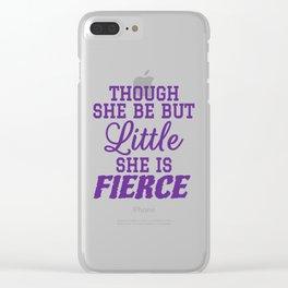 Little & Fierce (Purple) Clear iPhone Case