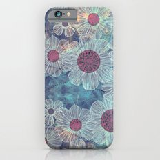 Blue Flowers Slim Case iPhone 6s