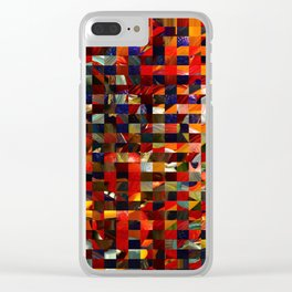 Colorful Collage Clear iPhone Case