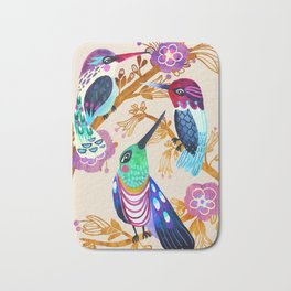 Hummingbird Floral Song Bath Mat