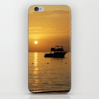 jamaica iPhone & iPod Skins featuring Sunset in Jamaica  by Jason Carnegie