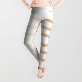 Simply Drawn Stripes Deep Bronze Amber Leggings
