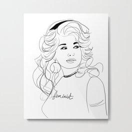 Feminist Dolly Metal Print