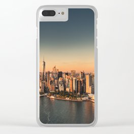 manhattan skyline Clear iPhone Case