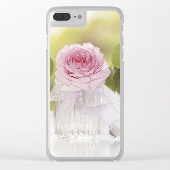 Romantic Rose Clear iPhone Case