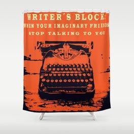 Writer´s Block Shower Curtain