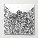 Textured black triangles zentangle pattern by annaki