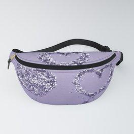 Ultra Violet LOVE Glitter Hearts #1 #shiny #decor #art #society6 Fanny Pack