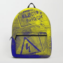 Abstract risk of electric shock Backpack