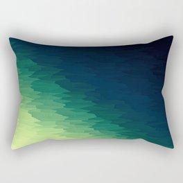 Blue Green Ombre Rectangular Pillow