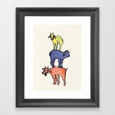 3 Billy Goats Up Framed Art Print
