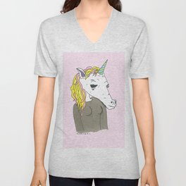 The Marvelous Unicorn Unisex V-Neck