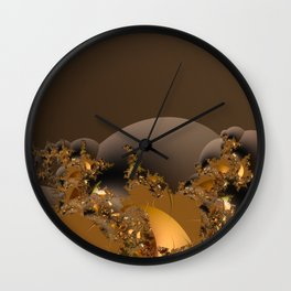 Golden Taste of Chocolates Wall Clock