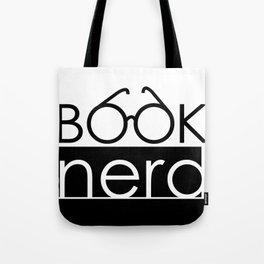 Book Nerd Logo Glasses  Tote Bag