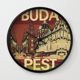 BUDA & PEST Wall Clock
