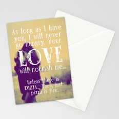 Love & Pizza Stationery Cards