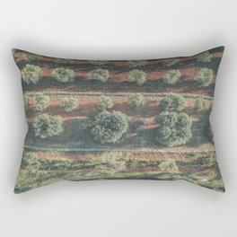 Aerial photo, italian landscape, drone photography, olive trees, nature patterns, Apulia Rectangular Pillow