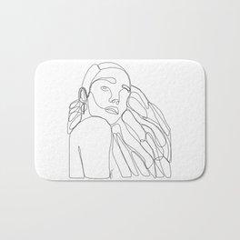 La Femme Qui Aime Sa Mélanine Bath Mat