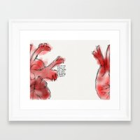 write Framed Art Prints featuring write by Austin Garcia