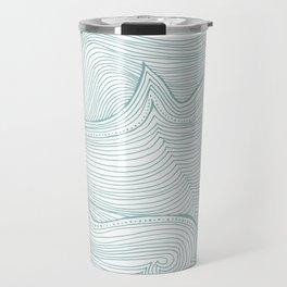 seafoam wave pattern Travel Mug