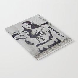 mona lisa - banksy Notebook