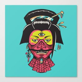 Samurai Geisha Canvas Print