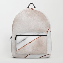 Spliced rose gold marble Backpack