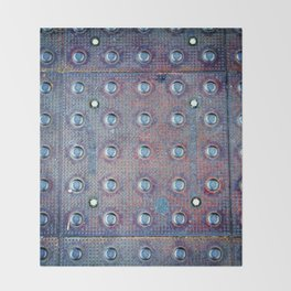Urban Steel Texture Throw Blanket