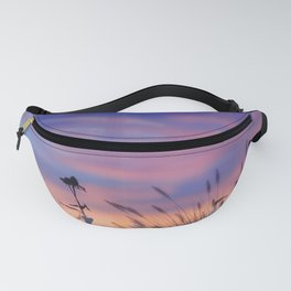 LOOK OUTSIDE - Flowers & Sunset #1 #art #society6 Fanny Pack