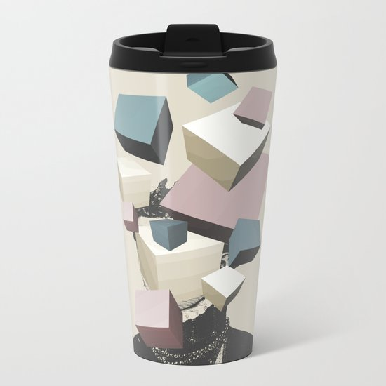 Queen of Cubes Metal Travel Mug