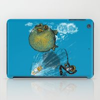 baloon iPad Cases featuring pufferfish baloon by MR VELA
