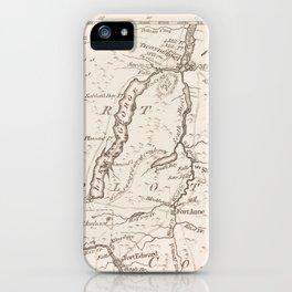Vintage British Map of Lake George Area iPhone Case
