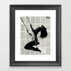 the lightness of being again.. Framed Art Print