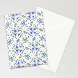 Modern Abstract Flower Pattern Art Print Stationery Cards
