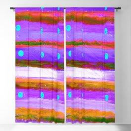 DOTS & LINES PURPLES Blackout Curtain