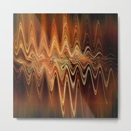 Earth Frequency Metal Print