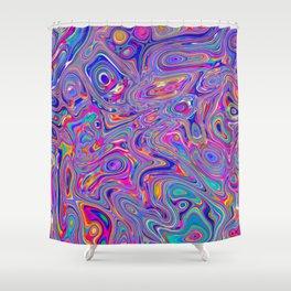 Neon melt Shower Curtain
