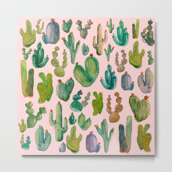 Cactus Pink Metal Print