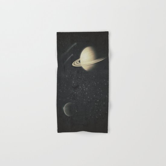 Deep Black Space Hand & Bath Towel