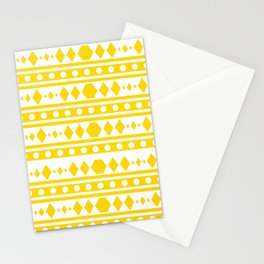 Tribal pattern Yellow Stationery Cards