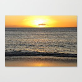 Sunset On the Pacific Canvas Print
