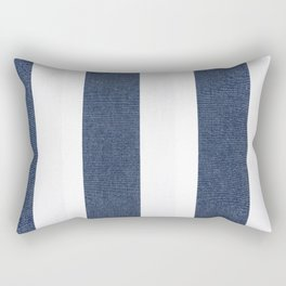 Nautical Blue White Stripes Rectangular Pillow