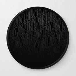 Optical illusion - Impossible Figure - Balck & White Pattern Wall Clock