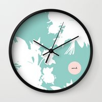 word Wall Clocks featuring Word. by Miss Modern Shop