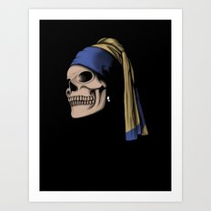 The Skull with a Pearl Earring Art Print