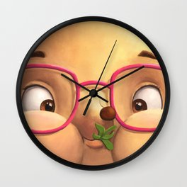 Ella the Hedgehog close-up Wall Clock