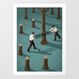 barcode loggers Art Print