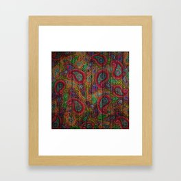 Kashmir on Wood 04 Framed Art Print