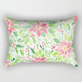 Christmas watercolor Rectangular Pillow