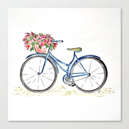 Spring bicycle Canvas Print